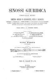 Sinossi giuridica: raccolta ordinata di giurisprudenza, dottrina e bibliografia in materia civile, commerciale, penale, amministrativa, finanziaria, ecc, Volume 2