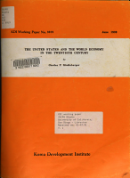The United States and the World Economy in the Twentieth Century PDF