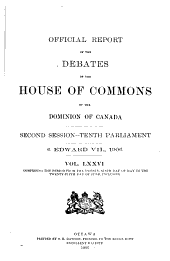 Official Report of the Debates of the House of Commons of the Dominion of Canada: Part 3