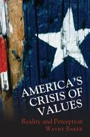 America s Crisis of Values PDF