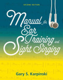 Manual for Ear Training and Sight Singing Book