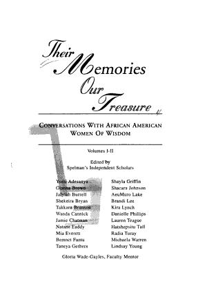 Their Memories  Our Treasure PDF