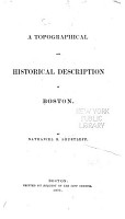 A Topographical and Historical Description of Boston PDF