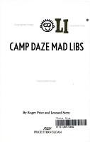 Camp Daze Mad Libs PDF