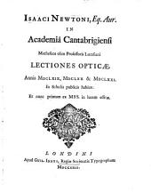 Lectiones opticae