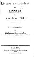 Litteratur Bericht zur Linnaea f  r das Jahr     PDF
