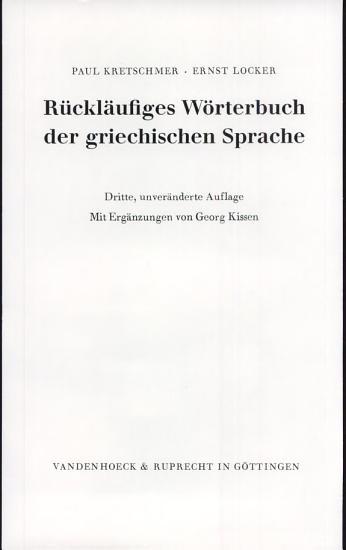 R  ckl  ufiges W  rterbuch der griechischen Sprache PDF