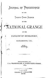 Journal of Proceedings of the ... Annual Session of the National Grange, Patrons of Husbandry