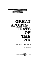 Great Sports Feats of the  70s PDF