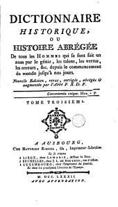 Dictionnaire historique: Volume 3