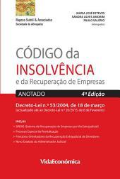 Código da Insolvência e da Recuperação de Empresas : Anotado 4ª edição