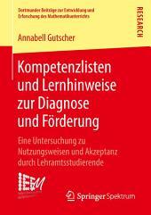 Kompetenzlisten und Lernhinweise zur Diagnose und Förderung: Eine Untersuchung zu Nutzungsweisen und Akzeptanz durch Lehramtsstudierende