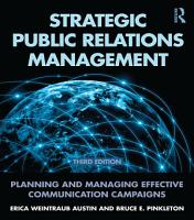 Strategic Public Relations Management PDF