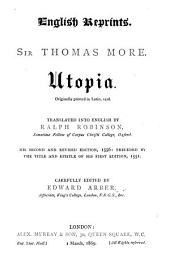 Utopia: Originally Printed in Latin, 1516, Issue 14, Part 1