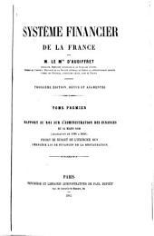 Système financier de la France: Volume1