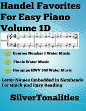 Handel Favorites for Easy Piano Volume 1 D