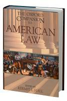 The Oxford Companion to American Law PDF