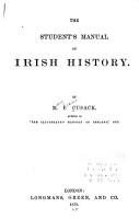 The Student s Manual of Irish History PDF
