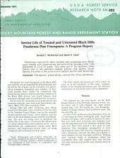 Service life of treated and untreated Black Hills ponderosa pine fenceposts: a progress report