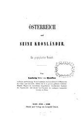 Österreich und seine Kronländer: ein geographischer Versuch