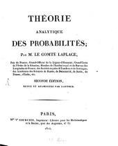 Théorie analytique des probabilités: Volume1