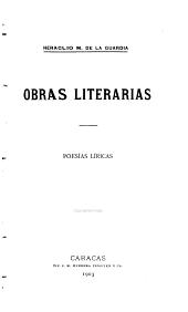 Obras literarias ...: Poesías líricas