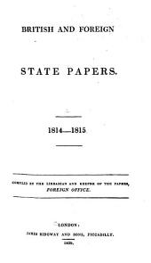 British and Foreign State Papers: Volume 2