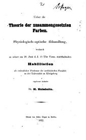 Ueber die Theorie der zusammengesetzten Farben: physiologisch-optische Abhandlung