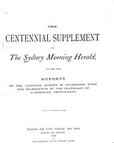 The Centennial Supplement to the Sydney Morning Herald