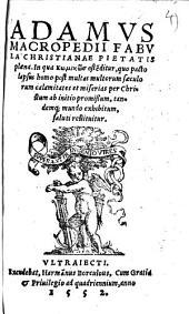 Adamus: fabula christianae pietatis plena