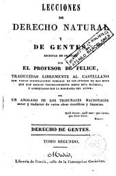 Lecciones de derecho natural y de gentes, 2