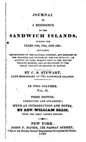 Journal of a Residence in the Sandwich Islands: During the Years 1823, 1824, and 1825 ...
