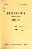 Elenchus bibliographicus biblicus of Biblica PDF