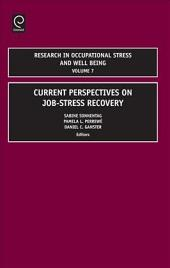 Current Perspectives on Job-stress Recovery