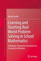 Learning and Teaching Real World Problem Solving in School Mathematics PDF