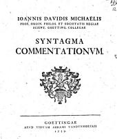 Syntagma commentationum: Band 1