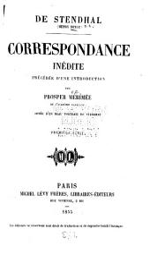 Correspondance inédite: Volumes1à2