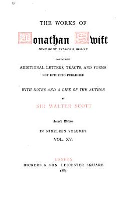 The Works of Jonathan Swift  Poems  by Dr  Swift and his friends  Epistolary correspondence