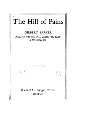 The Hill of Pains: A Novel