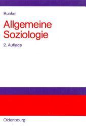 Allgemeine Soziologie: Gesellschaftstheorie, Sozialstruktur und Semantik, Ausgabe 2