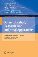 ICT in Education, Research, and Industrial Applications