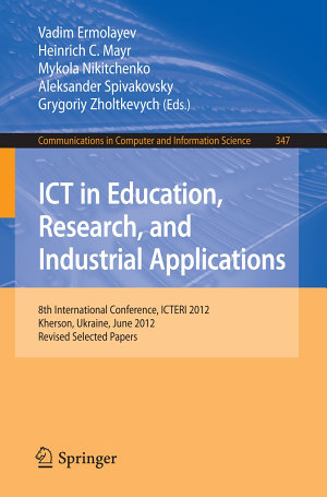 ICT in Education  Research  and Industrial Applications