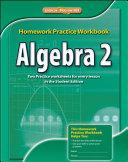 Algebra 2  Homework Practice Workbook PDF