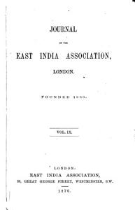 Journal of the East India Association  London PDF