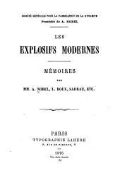 Les explosifs modernes: mémoires