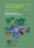 The Role of Food  Agriculture  Forestry and Fisheries in Human Nutrition   Volume III PDF