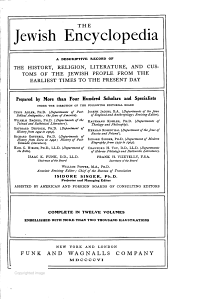 The Jewish Encyclopedia PDF