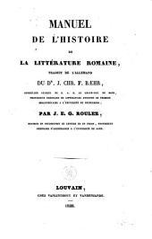 Manuel de l'histoire de la littérature romaine