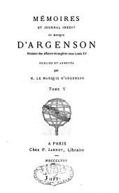 Mémoires et journal inédit: Volume5