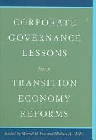 Corporate Governance Lessons from Transition Economy Reforms PDF